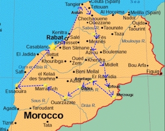 from-casa-kingdom-of-morocco-tour-map