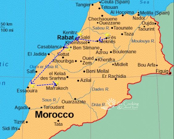 from-fes-morocco-imperial-cities-map | Fescooking & Morocco Cultural ...
