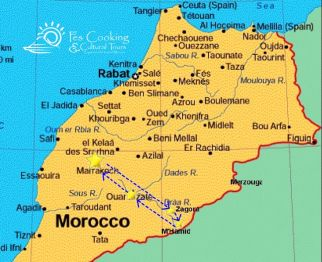 from-marrakech-draa-desert-short-tour-map