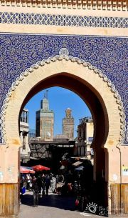Morocco-Blue-Gate-Fes