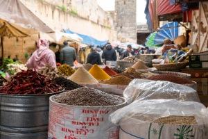 Souk spices grains
